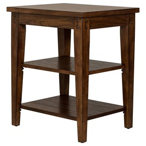 End Table w/ Shelves