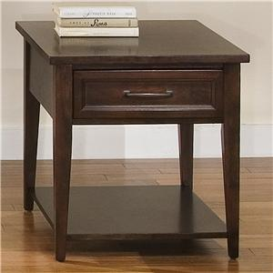 Liberty Furniture Lakewood Rectangular End Table