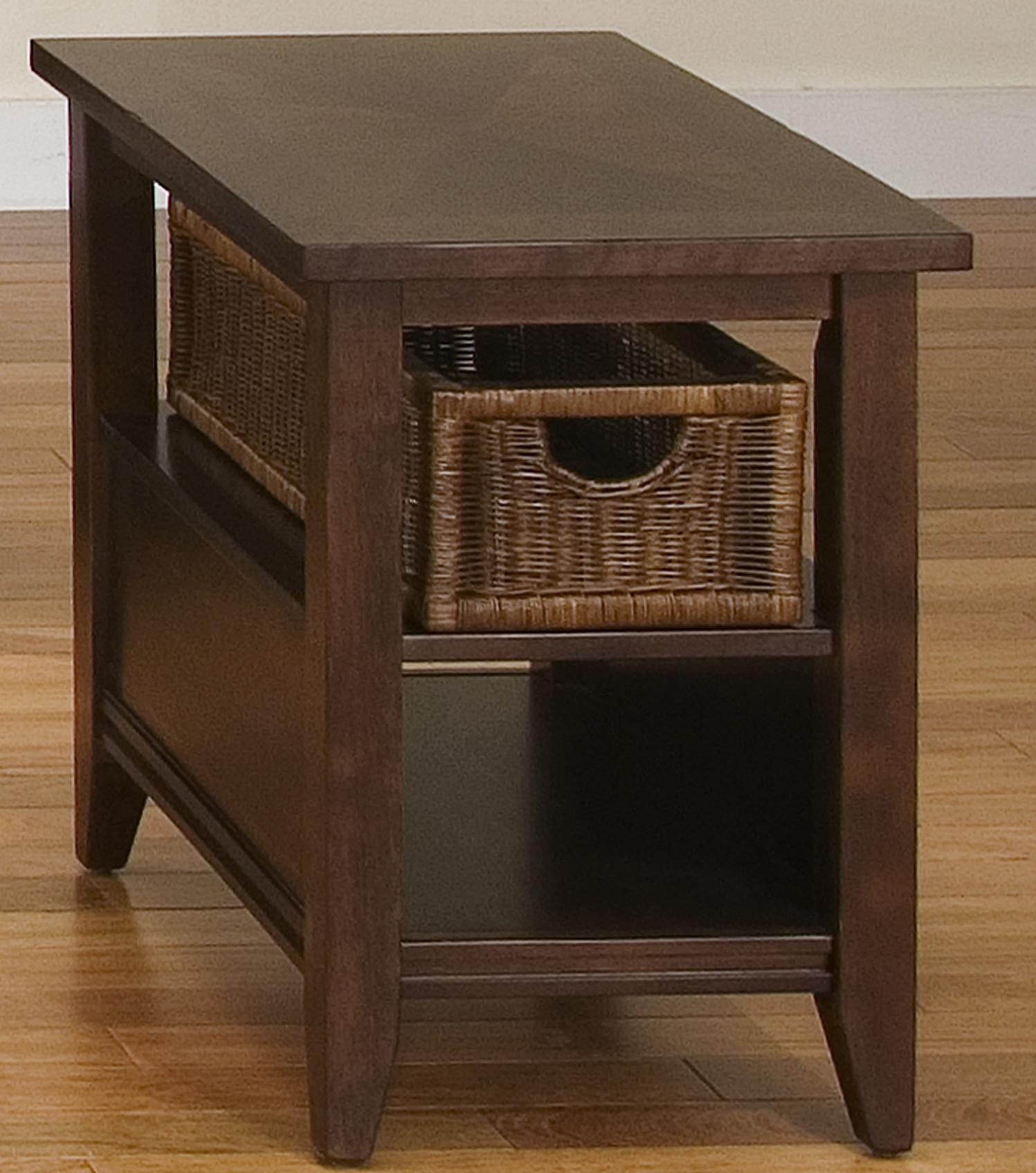 Perfect End Table W/ Basket Drawer