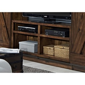 Entertainment TV Stand With Wire Management