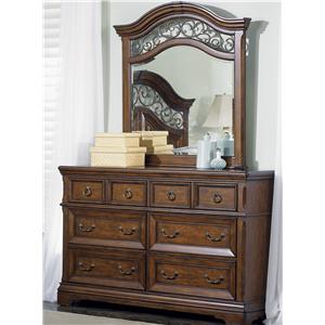 Liberty Furniture Laurelwood Dresser & Mirror