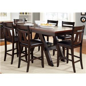 Liberty Furniture Lawson Gathering Table with Counter Height Chairs