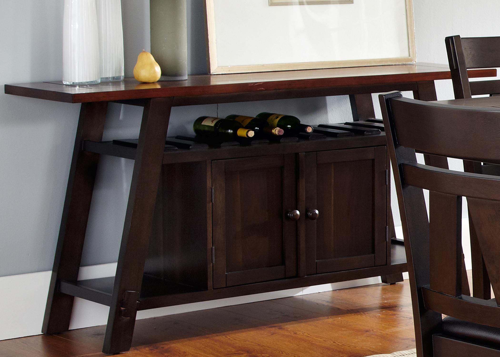 Server With Built In Wine Storage And Doors By Liberty Furniture