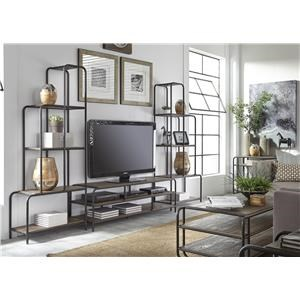 3 pc Entertainment-TV Stand with 2 Piers
