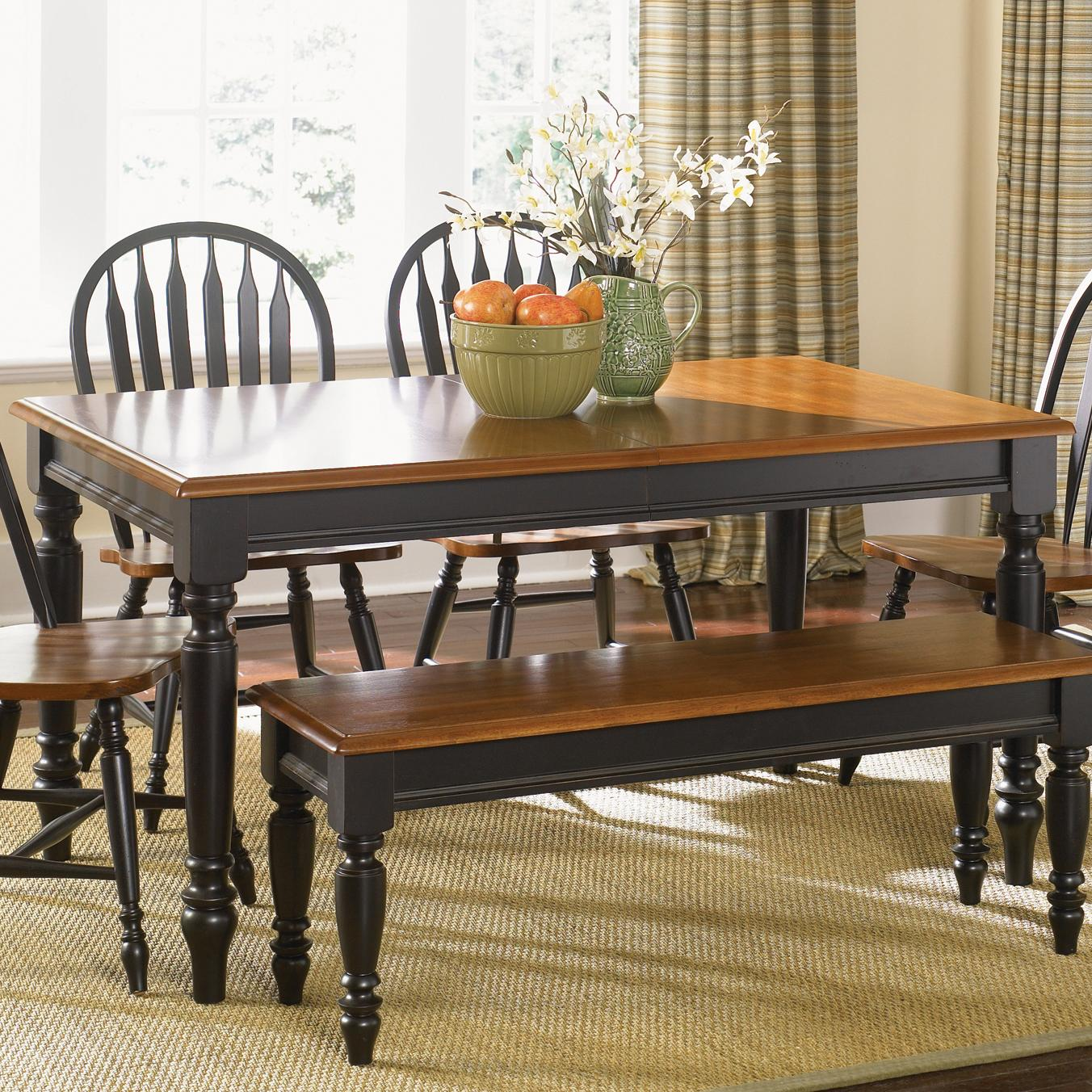 Rectangular Dining Table with Turned Legs by Liberty  : products2Flibertyfurniture2Fcolor2Flow20country80 t3876 b from www.wolffurniture.com size 1352 x 1352 jpeg 343kB