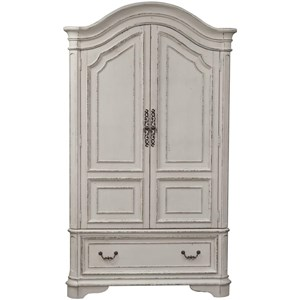 Traditional Armoire with Cedar Lined Bottom Drawer