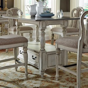 Rectangular Gathering Table with Storage Drawer