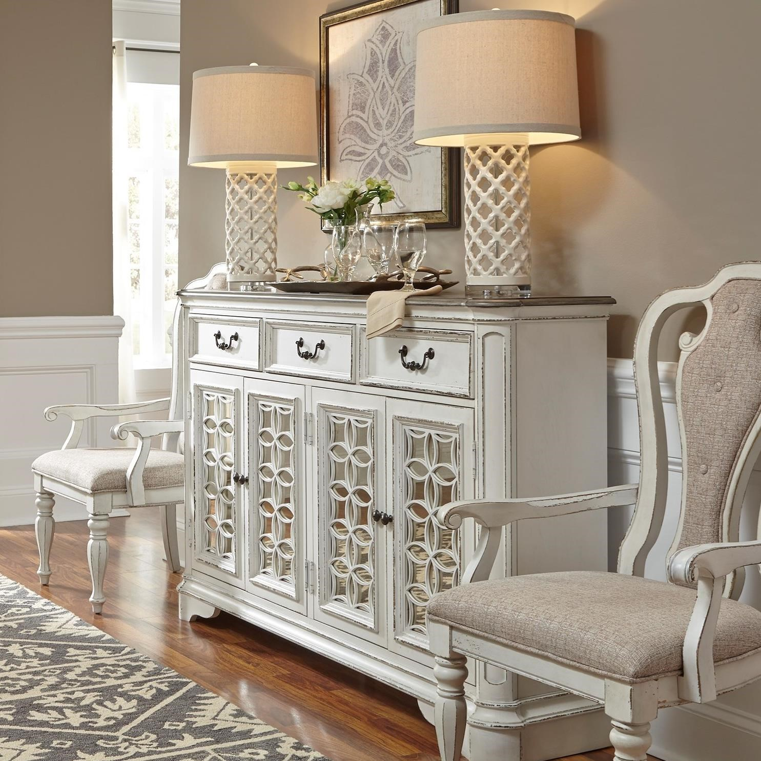 Traditional Hall Buffet with Felt-Lined Drawers