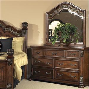 Vendor 5349 Messina Estates 7 Drawer Dresser with Mirror