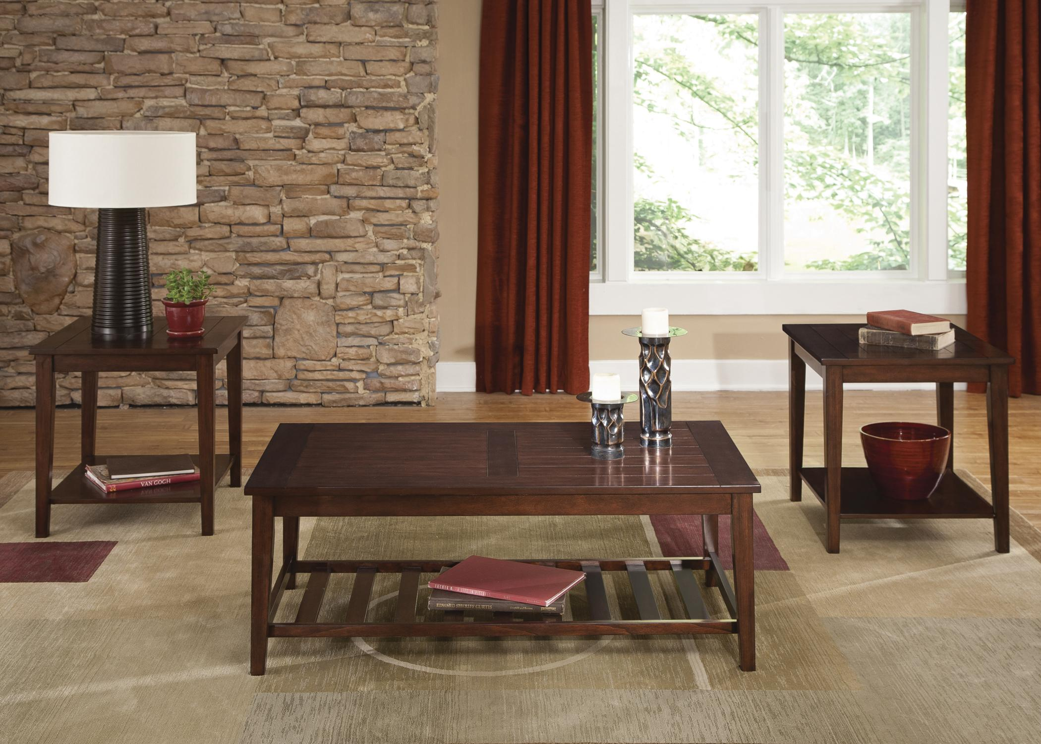3-Piece Plank Style Table Set