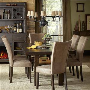 Vendor 5349 Moreno Valley 7 Piece Trestle Table Set