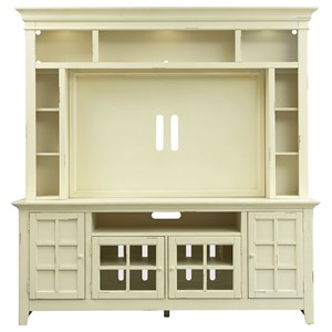 Painted Entertainment Center with Flat Screen TV Mounting Area
