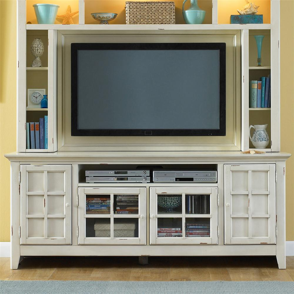 Coastal Style Entertainment Console With Storage