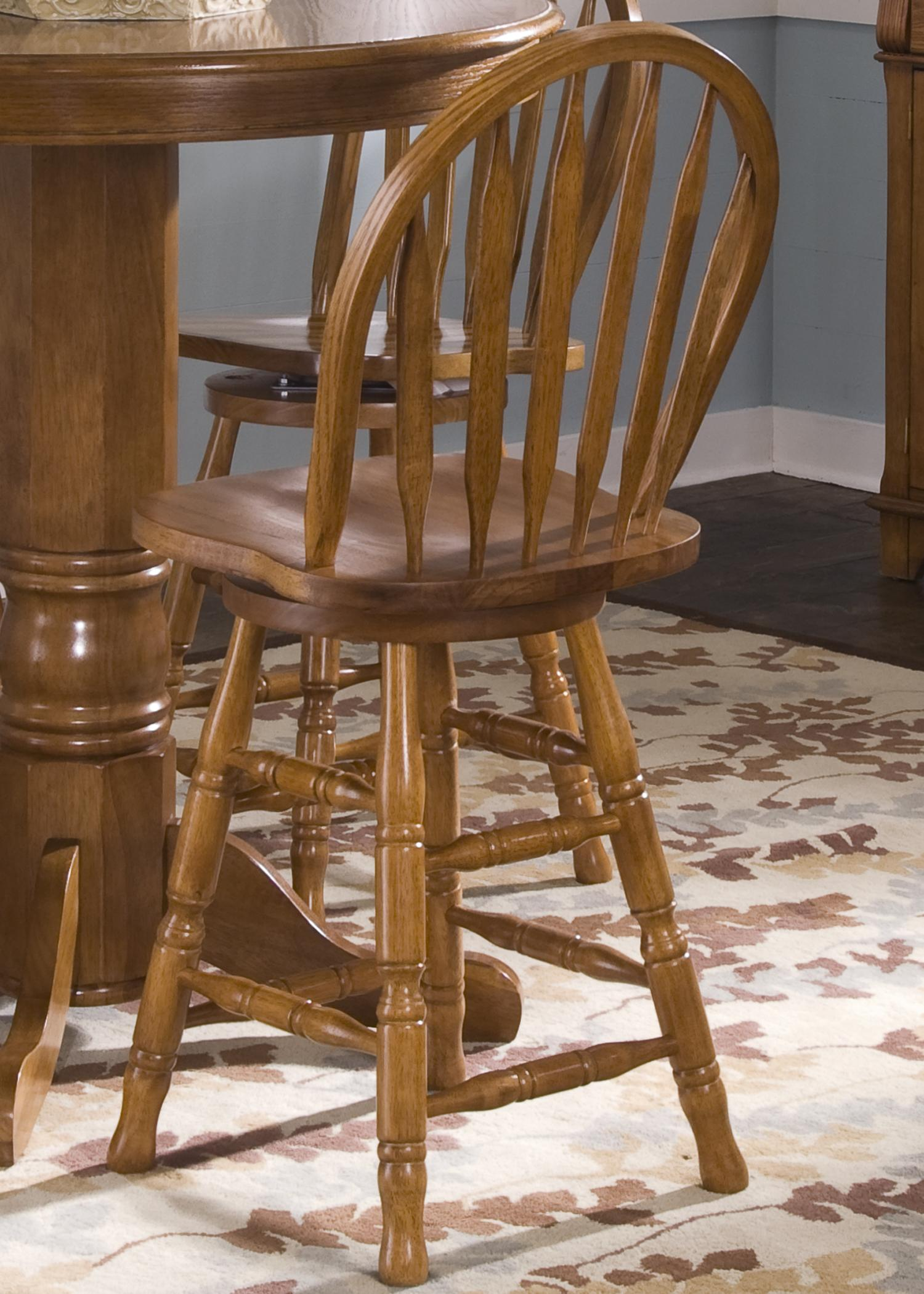 Mission 24 Inch Arrow Back Barstool By Liberty Furniture