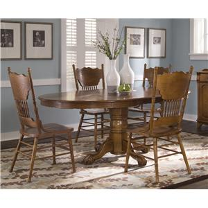 Single Pedestal Table and Side Chair Set