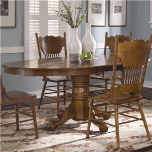 Liberty Furniture Nostalgia  Oval Pedestal Table