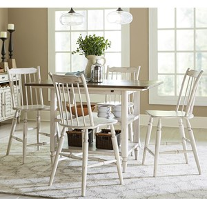 5 Piece Gathering Table and Counter Height Chair Set