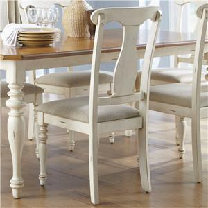 Liberty Furniture Ocean Isle  Splat Back Side Chair