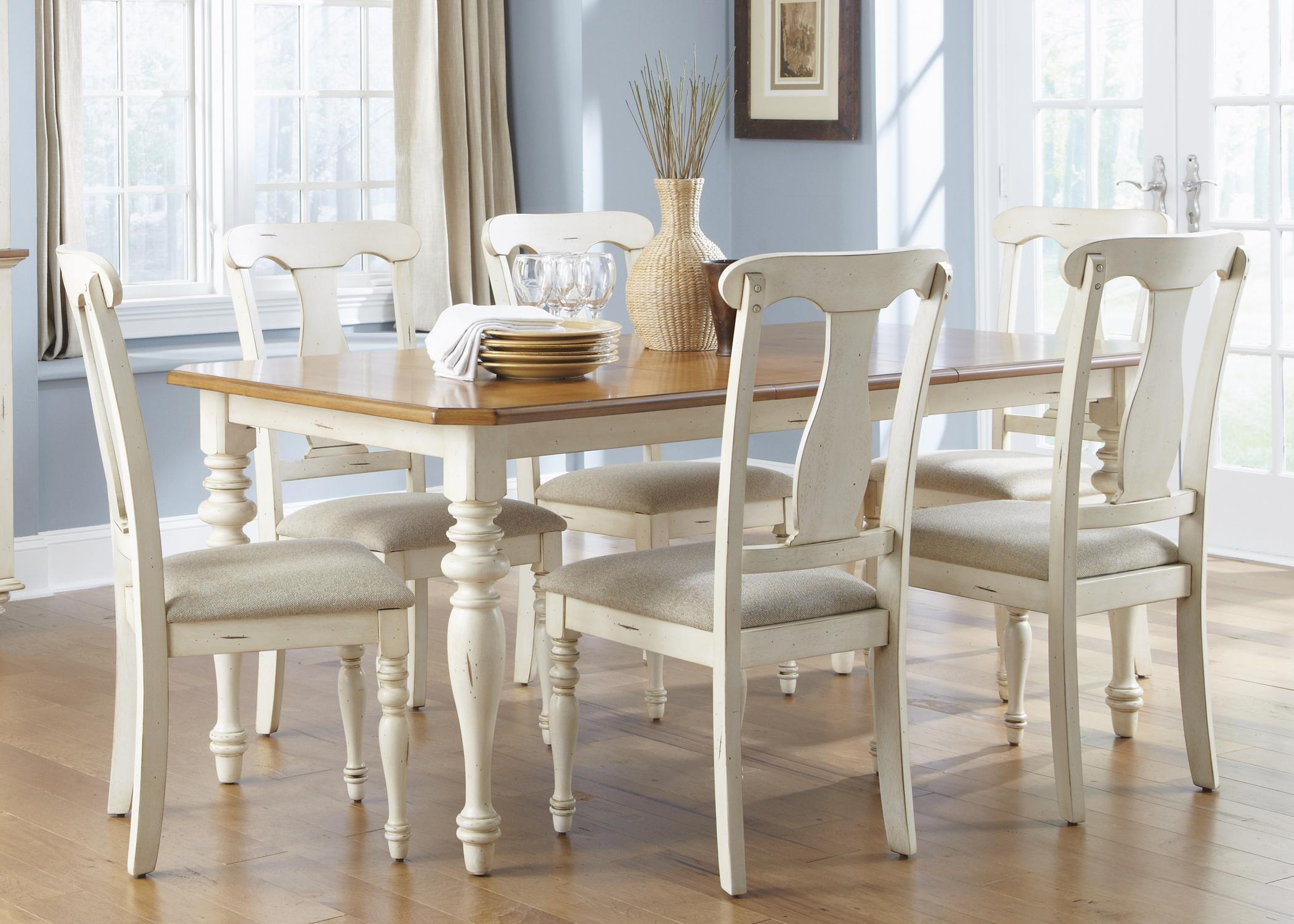 Wonderful 7 Piece Rectangular Table And Chair Dining Set