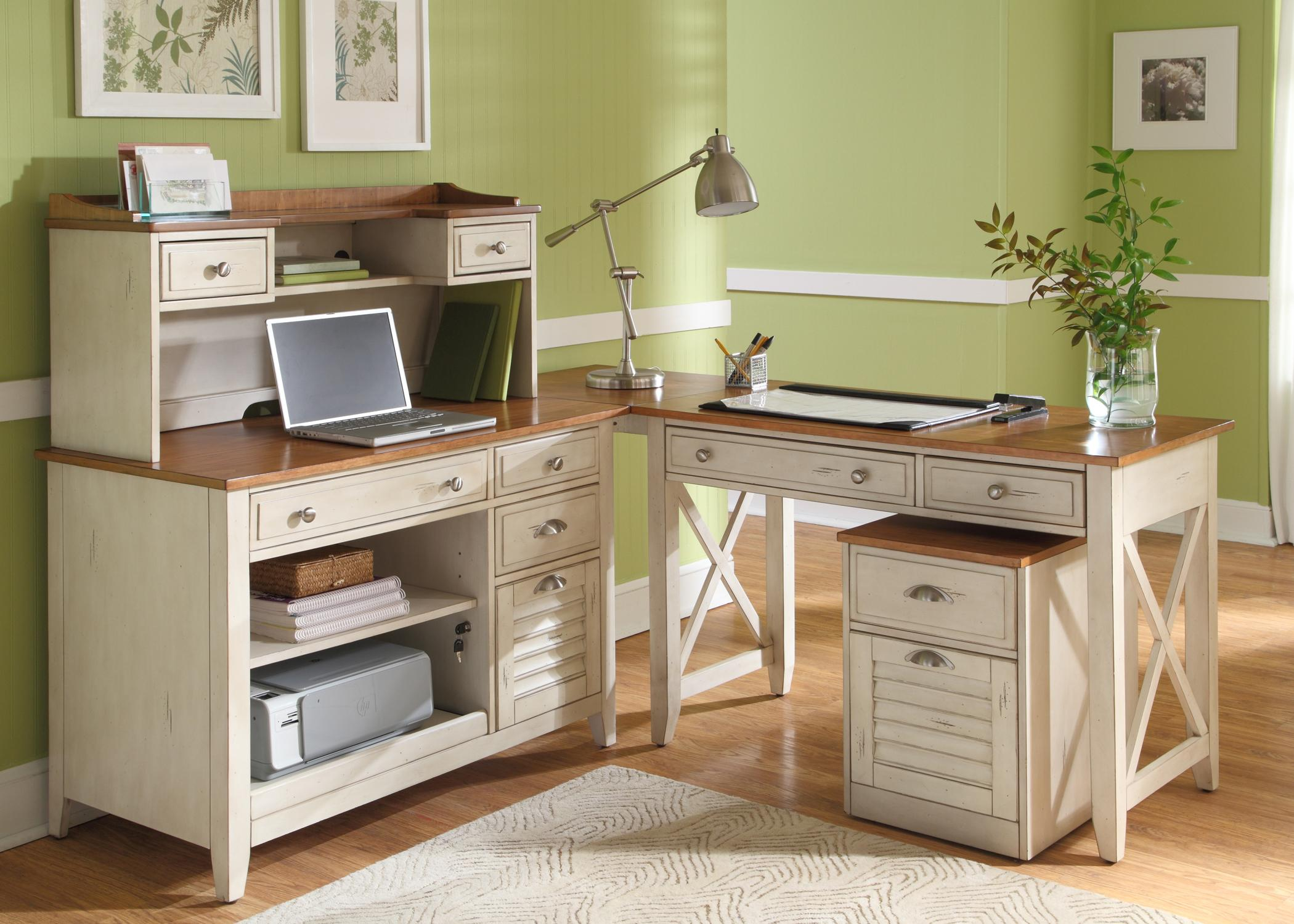 complete l shape desk with hutch credenza and writing desk