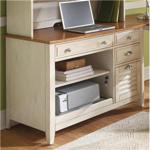 Computer Credenza with Flip Down Keyboard Tray