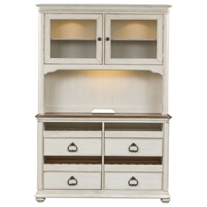 Relaxed Vintage Wine Server and Hutch
