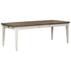 Relaxed Vintage Rectangular Leg Table