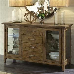 Liberty Furniture Pebble Creek Server