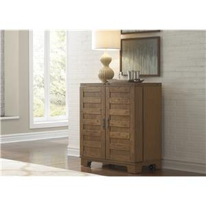 Wine Cabinet with Satin Nickel Bar Pull Hardware