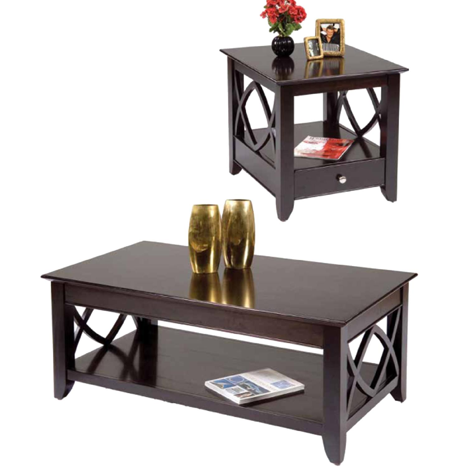 End Tables Set 2 3 Piece Baldwin Pack Coffee End Table Set