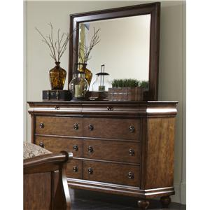 Liberty Furniture Rustic Traditions Dresser and Mirror