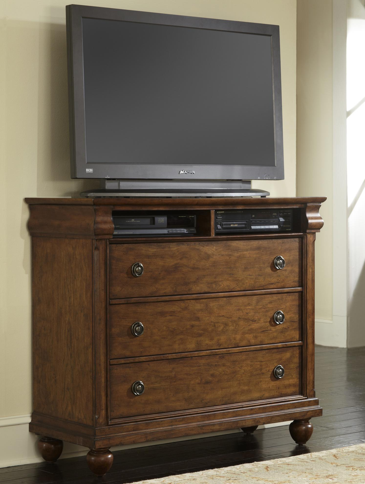 Media Chest with 3 Drawers