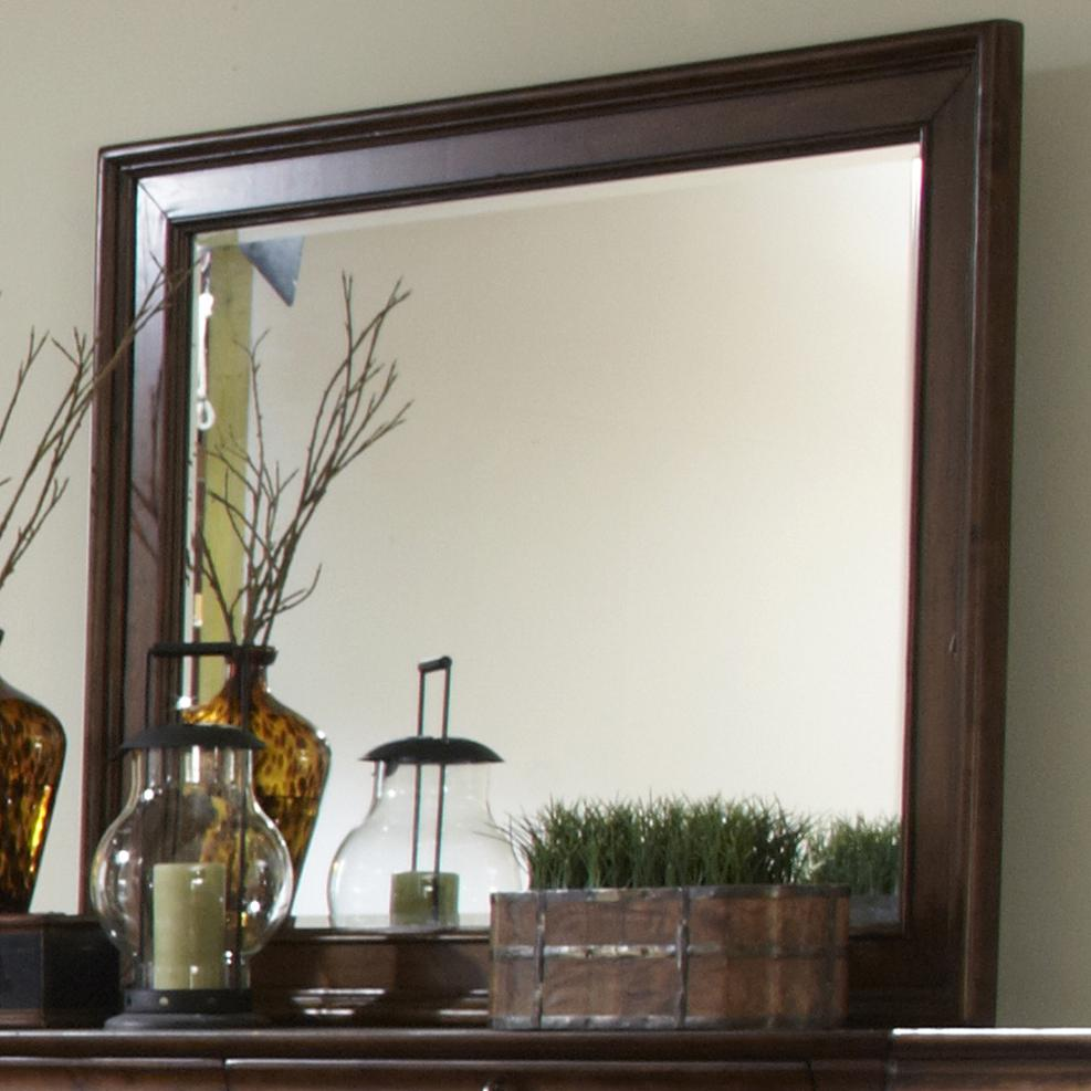 Beveled Landscape Mirror with Wood Frame by Liberty Furniture | Wolf ...