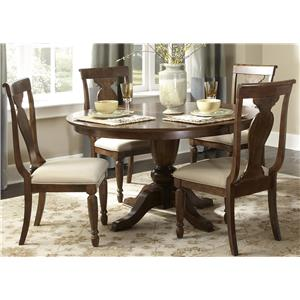 Liberty Furniture Brigham 5-Piece Oval Table Set