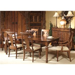 Seven-Piece Rectangular Table and Chair Dining Set