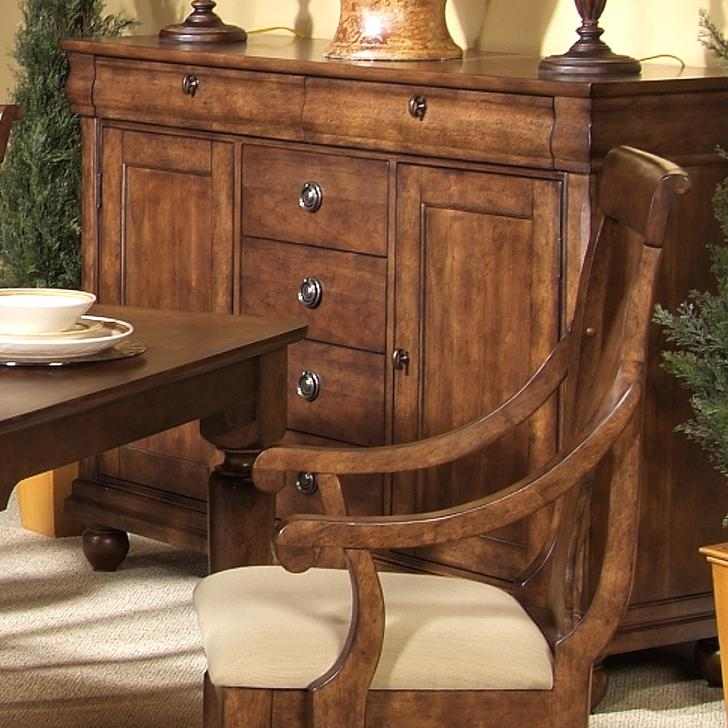 Six-Drawer Dining Buffet with Two Door Cabinet