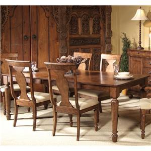 Rectangular Leg Dining Table with Leaf