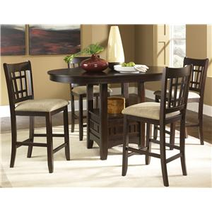 Liberty Furniture Santa Rosa Oval Pub Table & Bar Stool Set