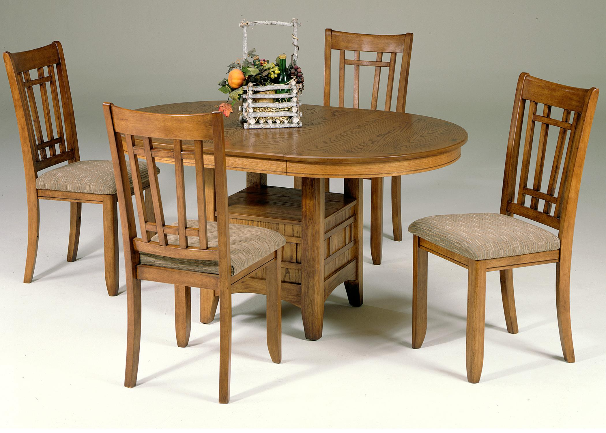 Oval pedestal table with storage base by liberty furniture wolf and gardiner wolf furniture - Pedestal kitchen table set ...