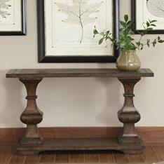 Traditional Sofa Table with Bottom Shelf