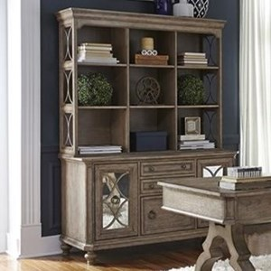 Cottage Credenza and Hutch with Open Shelving