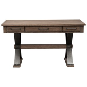 Contemporary Writing Desk with Trestle Base