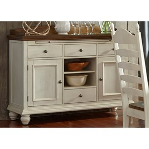 4 Drawer Sideboard with Felt-Lined Drawers