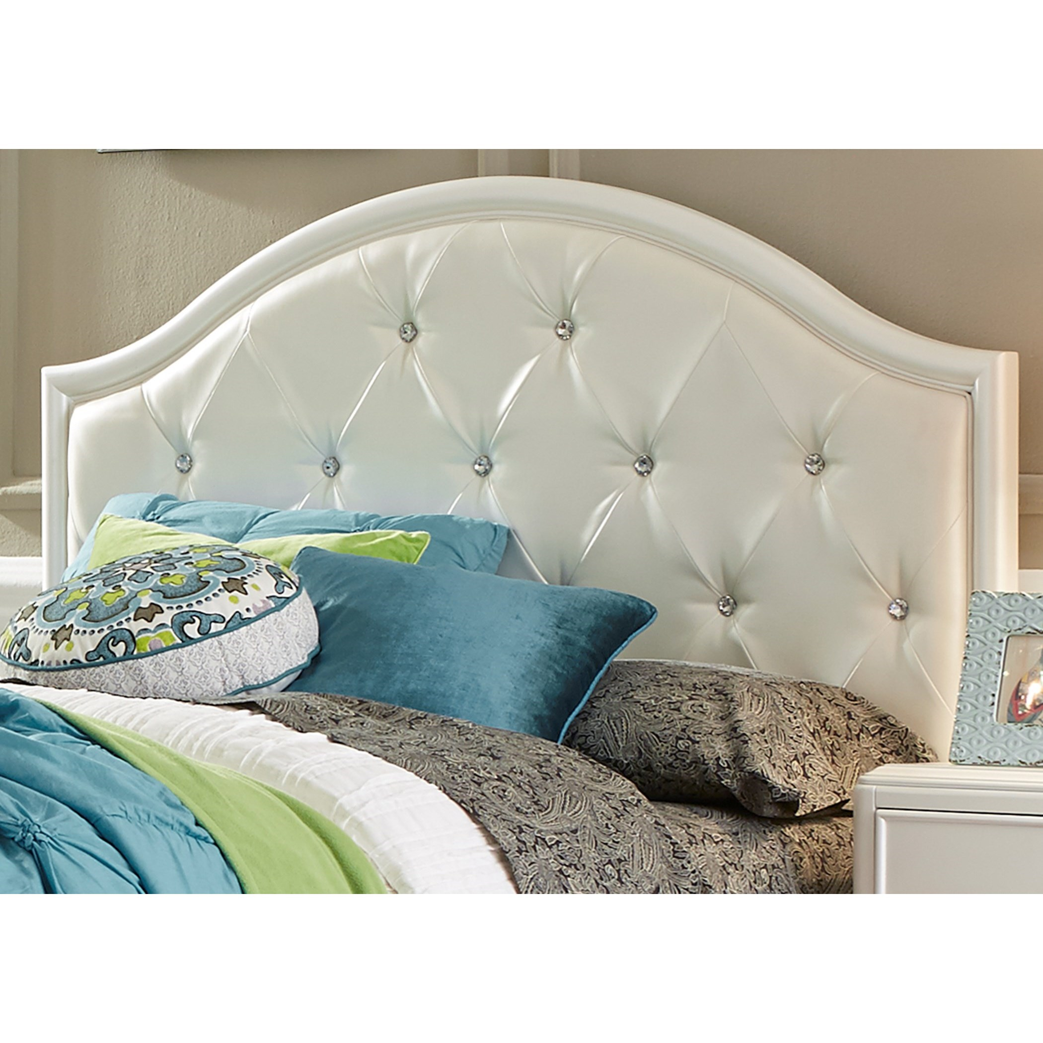 Glam Twin Panel Headboard with Crystal Tufting