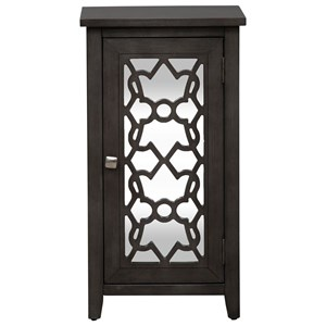 Contemporary Mirrored Door Accent Cabinet