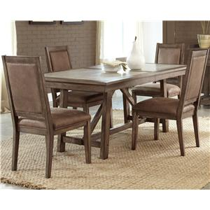 Liberty Furniture Stone Brook 5 Pc Trestle Table Set
