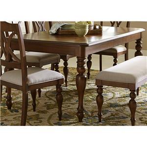 Liberty Furniture Summer House Rectangular Leg Table