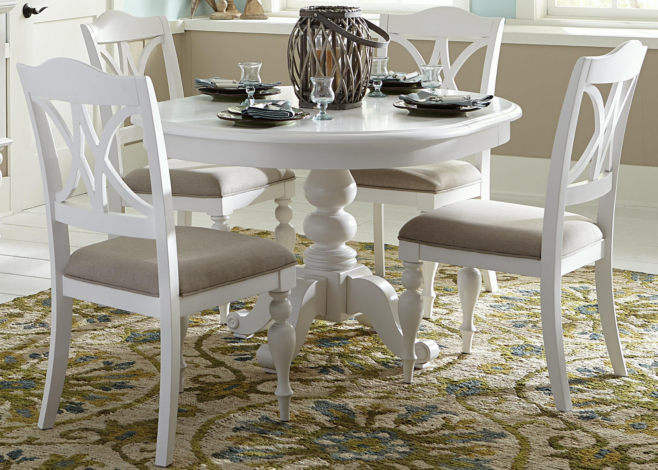 Merveilleux 5 Piece Round Table Set With Turned Legs By Liberty Furniture   Wolf  Furniture