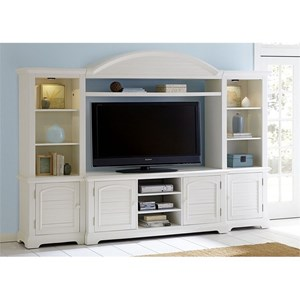 Entertainment Center with Piers and LED Touch Lighting