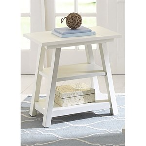 Chair Side Table with Shelves